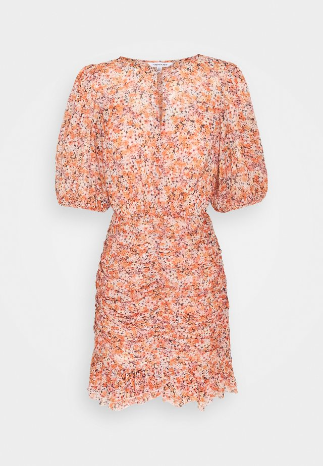 KYLIE RUCHED MINI DRESS - Robe d'été - orange