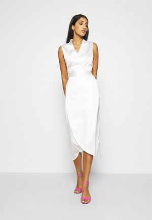 WRAP MIDI DRESS - Cocktailkjole - ivory