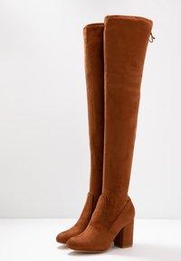Even&Odd - High heeled boots - cognac - 4