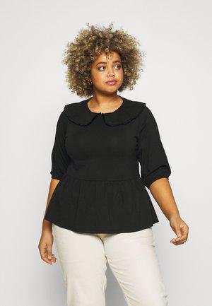 CARTIME COLLAR - Print T-shirt - black