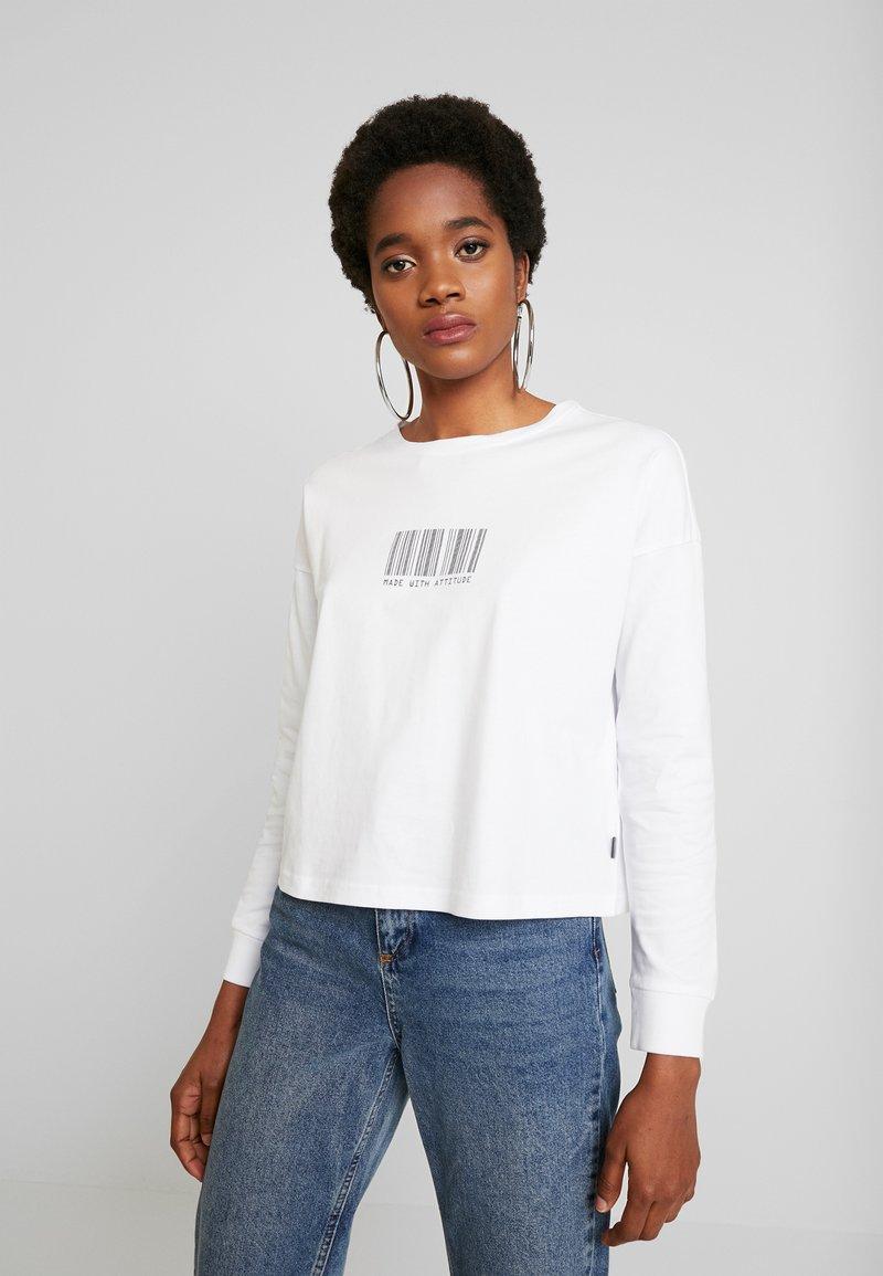 Noisy May - NMODESSA - Camiseta de manga larga - bright white/black