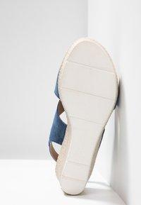 Marco Tozzi - Platform sandals - denim - 6