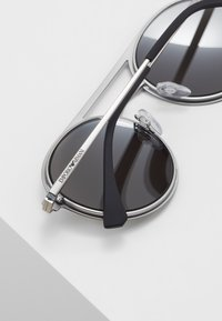 Emporio Armani - Sunglasses - matte black/matte silver - 4