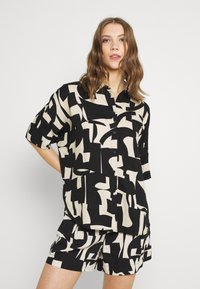 Monki - Button-down blouse - cutouts - 0
