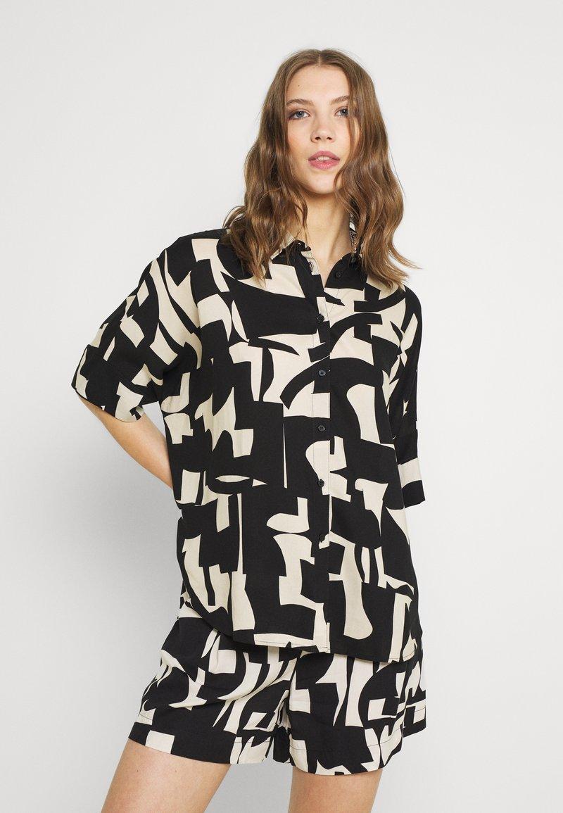 Monki - Button-down blouse - cutouts