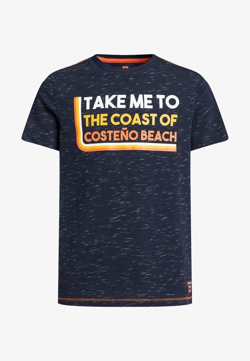 WE Fashion - Print T-shirt - dark blue