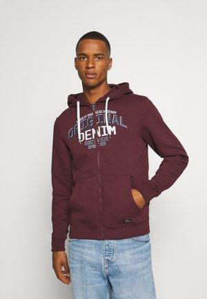 Zip-up hoodie - tawny port