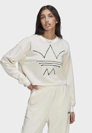 Sweatshirt - off white mel