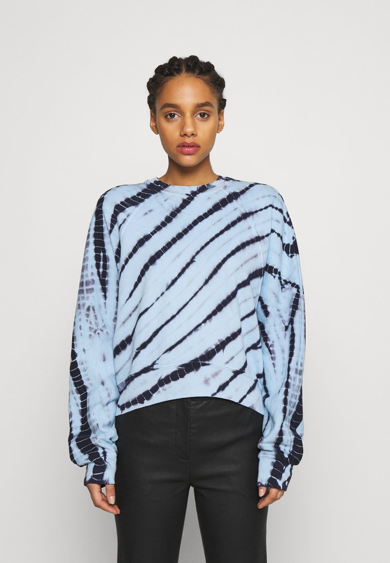 Proenza Schouler White Label - MODIFIED RAGLAN TIE DYE - Sweatshirt - light chambray/navy