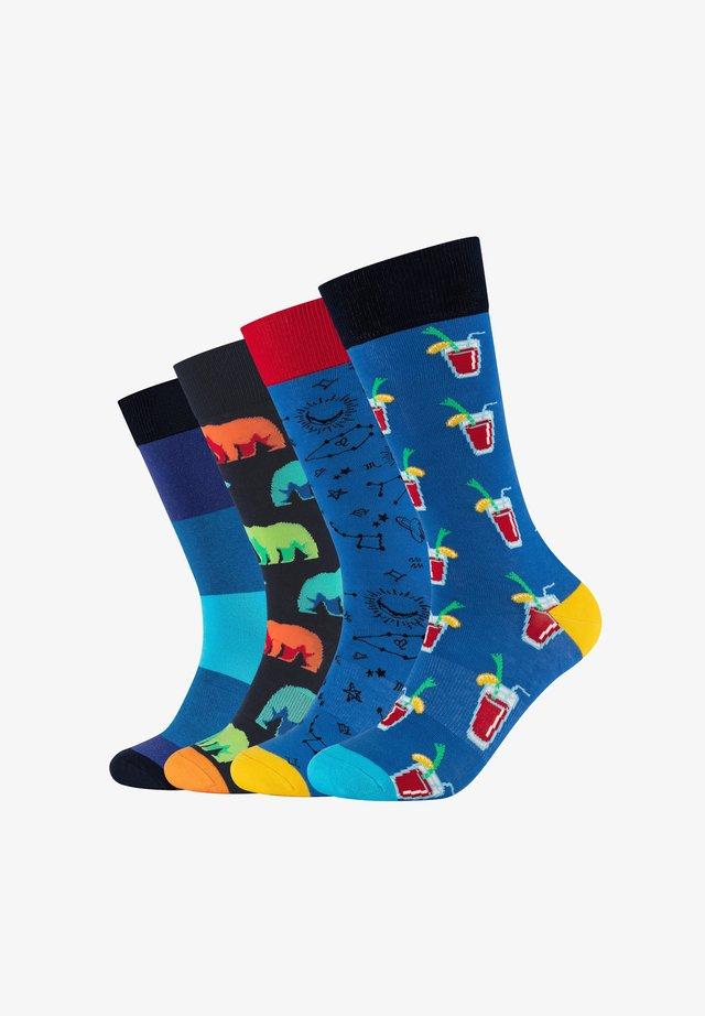 4ER PACK BLUE FUN BOX - Socks - blue