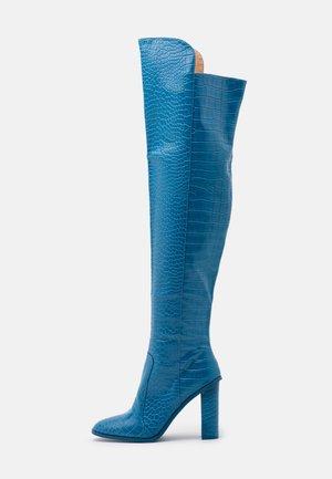 CYNTHIA - Kozačky na vysokém podpatku - blue