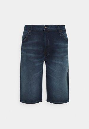JJIREX JJLONG - Denim shorts - blue denim