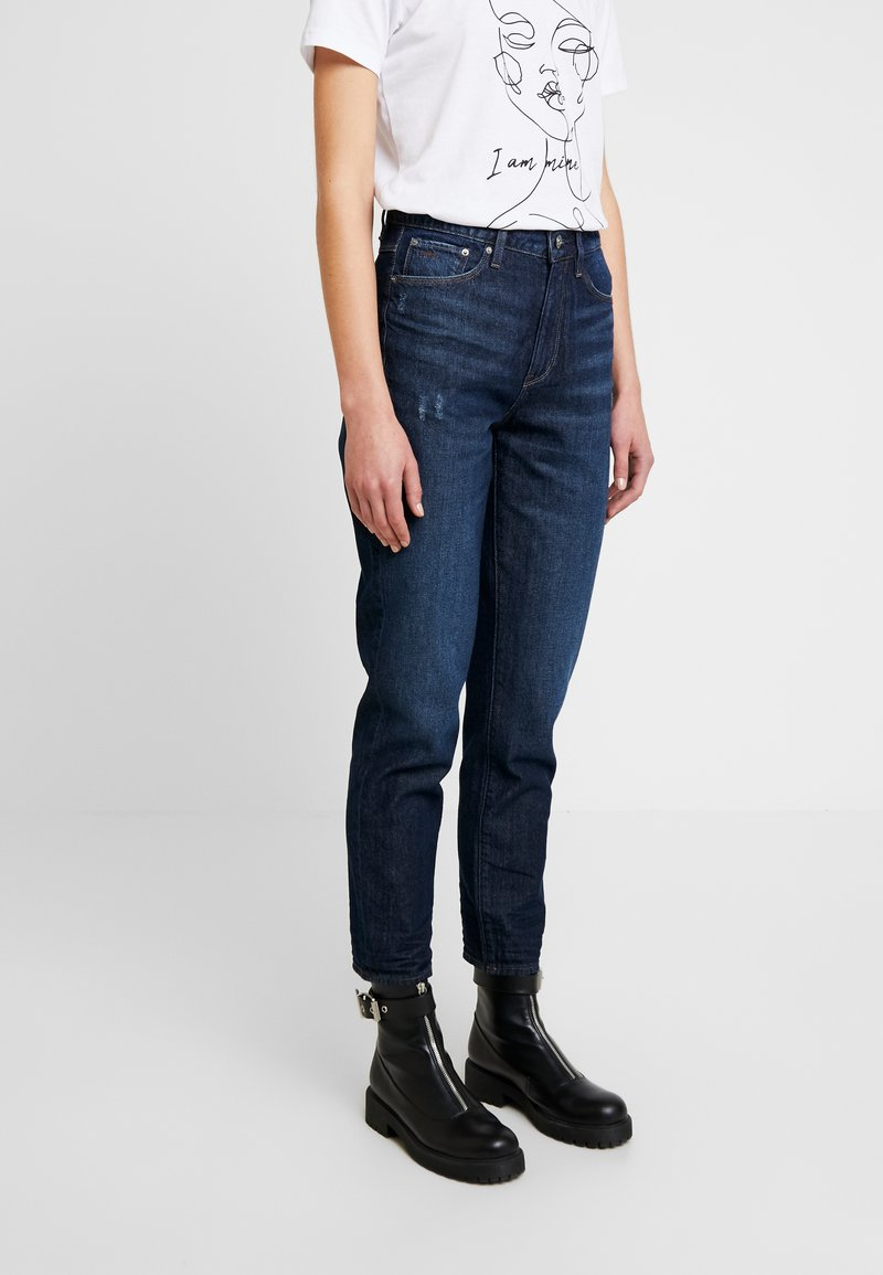 G-Star - 3301 HIGH STRAIGHT 90S ANKLE - Straight leg jeans - dark aged