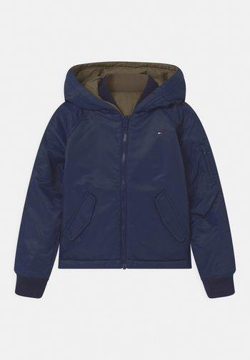 REVERSIBLE  - Winter jacket - twilight navy/olive