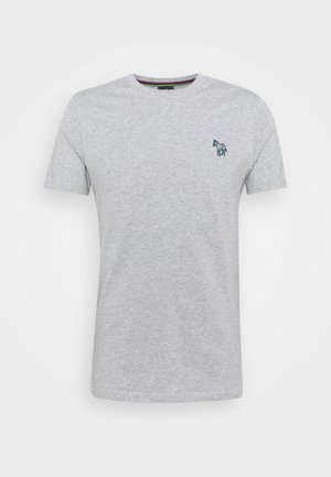 SLIM FIT ZEBRA - Basic T-shirt - mottled grey