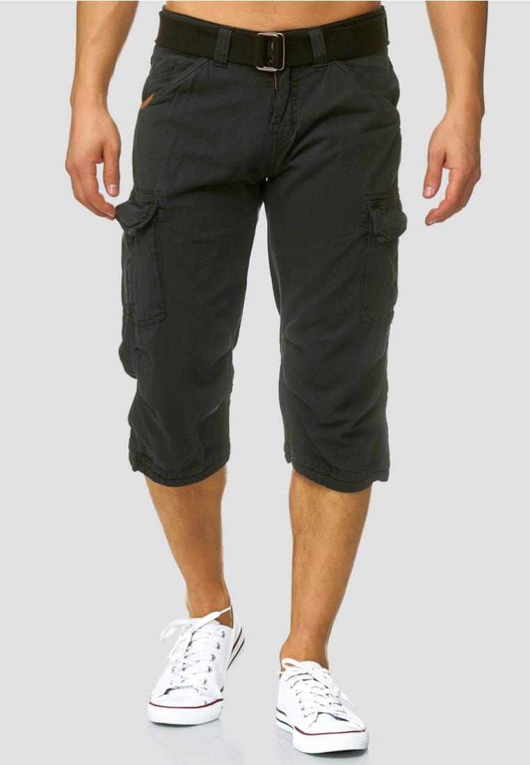 INDICODE JEANS - MIT GÜRTEL NICOLAS - Shorts - black