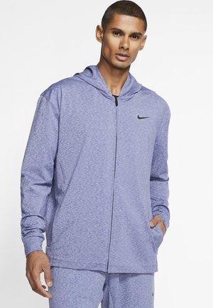 MIT DURCHGEHENDEM REISSVERSCHL - Zip-up hoodie - deep royal blue/heather/black