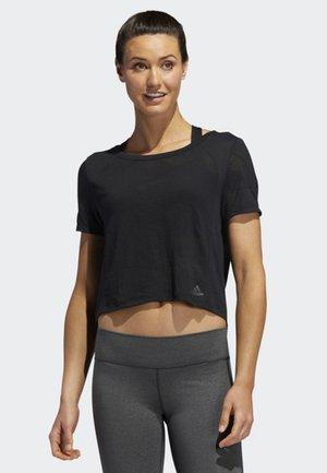 BURNOUT T-SHIRT - Camiseta estampada - black