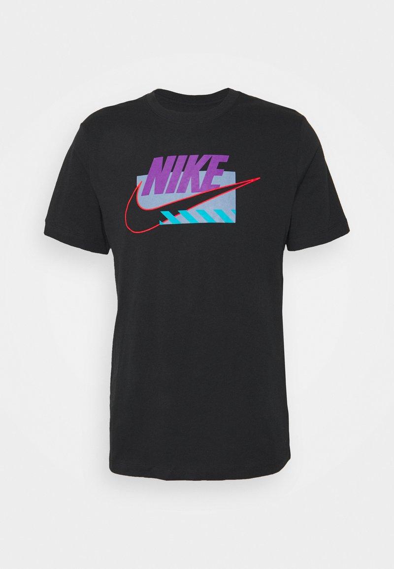 Nike Sportswear - BRANDMARKS - T-shirt print - black/wild berry