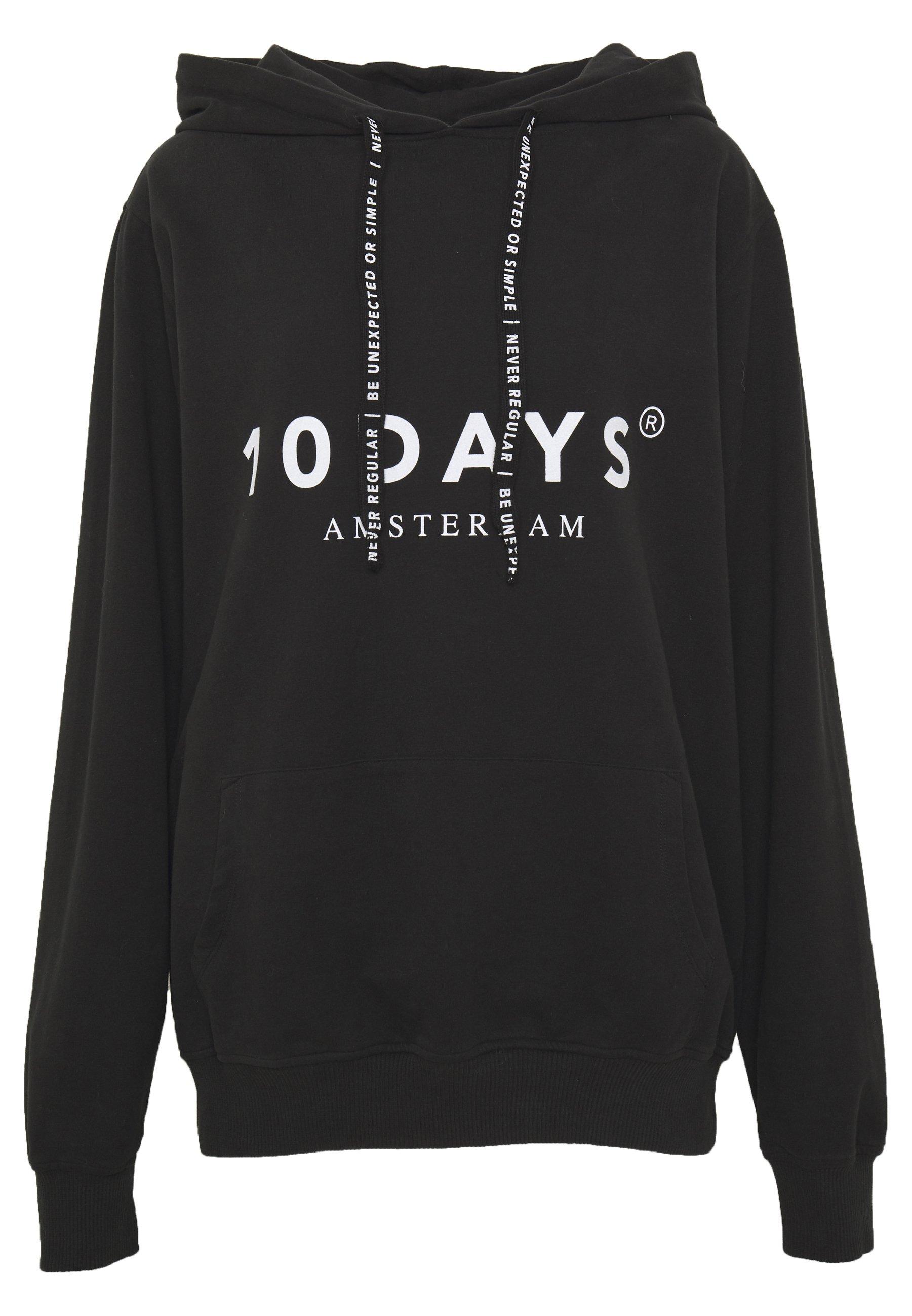 10DAYS THE HOODIE Kapuzenpullover black