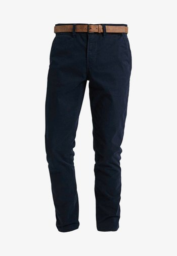 WITH BELT - Chinos - sky captain blue