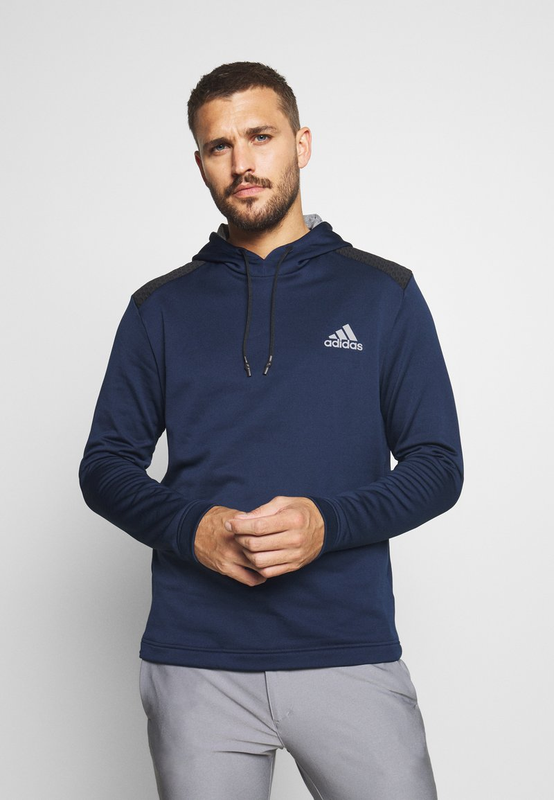 adidas Golf - SPORTS GOLF HOODED  - Fleecetröja - collegiate navy