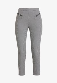 Guess - CARRIE PANTS - Trousers - black/white - 4
