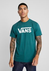 Vans - CLASSIC - Print T-shirt - trekking green - 0