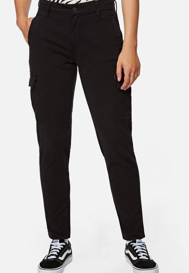 JULIA - Spodnie materiałowe - black