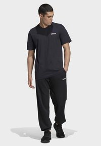 adidas Performance - ESSENTIALS PLAIN T-SHIRT - Basic T-shirt - black - 1
