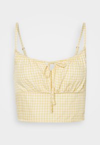 Hollister Co. - TIE BARE - Toppi - yellow - 4