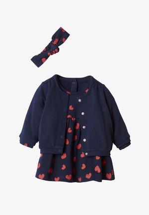 SET - Jumper dress - marine/herzen rot