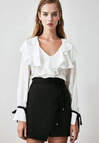 Trendyol - Wrap skirt - black - 0
