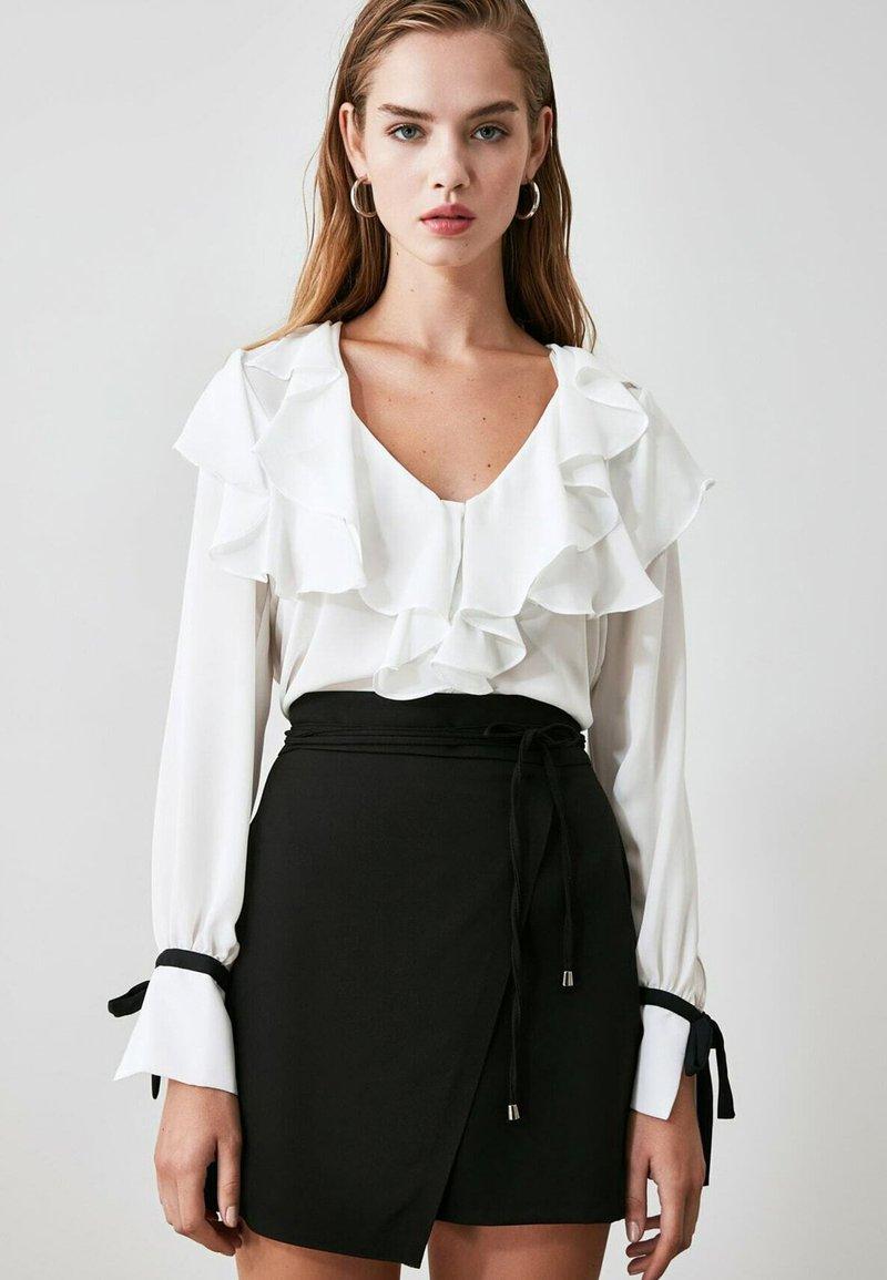 Trendyol - Wrap skirt - black