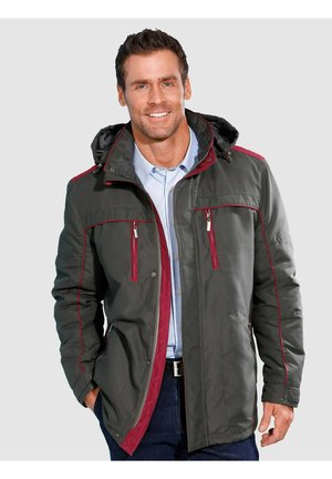 Summer jacket - dunkelgrau,rot