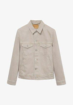 Denim jacket - open beige