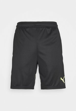 INDIVIDUAL SHORTS - Pantalón corto de deporte - black/yellow alert