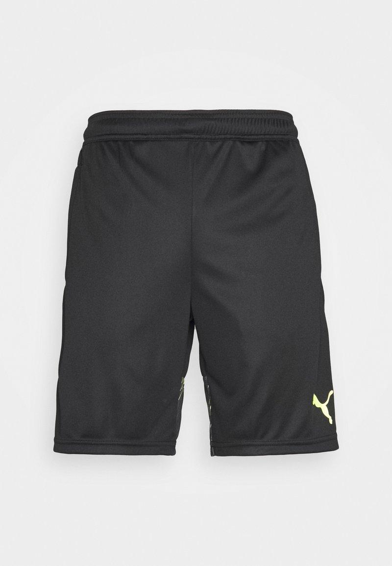 Puma - INDIVIDUAL SHORTS - Short de sport - black/yellow alert