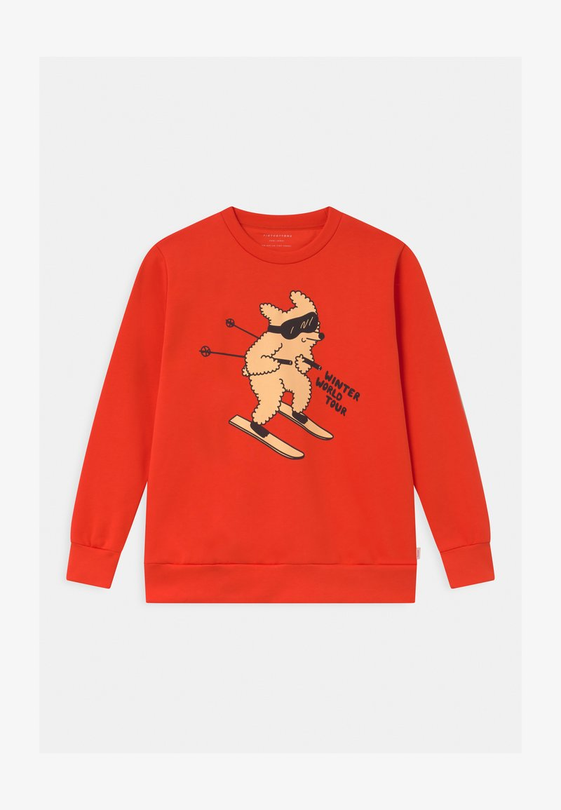 TINYCOTTONS - SKIING DOG UNISEX - Mikina - red/cappuccino