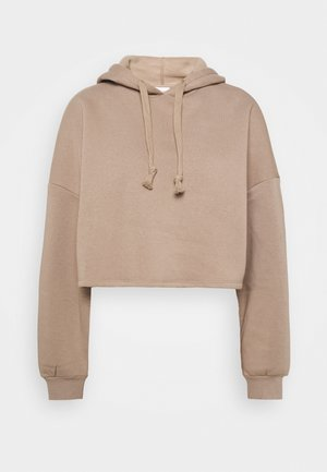 BASIC CROPPED HOOD - Sweat à capuche - goat