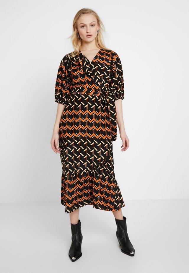 RIVER MIDI DRESS - Day dress - choclate fondant