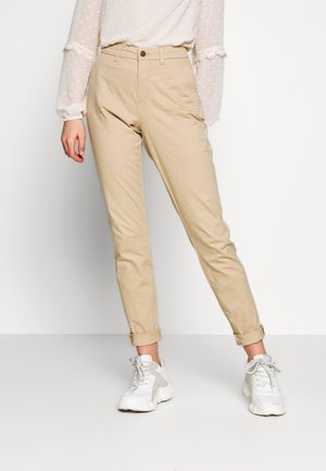 ONLPARIS PANTS - Chinosy - beige