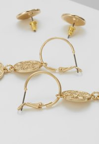 Miss Selfridge - DOUBLE COIN 2 PACK - Earrings - gold-coloured - 2