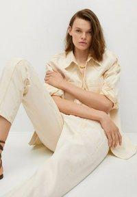 Mango - Button-down blouse - pastelgeel - 5