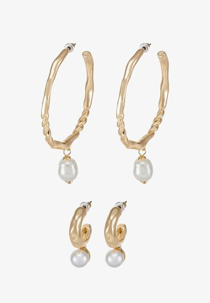 HOOP SET - Earrings - gold-coloured