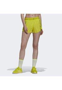 adidas by Stella McCartney - TRUEPACE - Sportovní kraťasy - acid yellow - 0