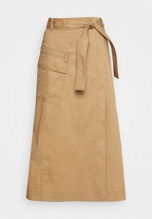 SKIRT UTILITY DETAILS CARGO POCKET - A-line skirt - mellow almond