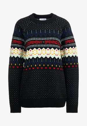 FAIRISLE - Svetr - black/multi-coloured
