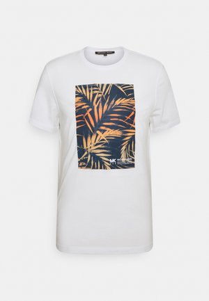 PALM BLOCK TEE - Print T-shirt - midnight