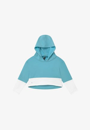 GIRLS COLOR BLOCK HOODIE - Jersey con capucha - light blue/white